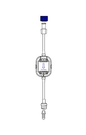 Alargadera de 10 cm con filtro de 0.2 µm con válvula antirreflujo