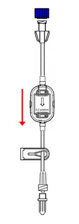 Alargadera neonatal 1 x2.50 mm con filtro positivo 0.2 µm