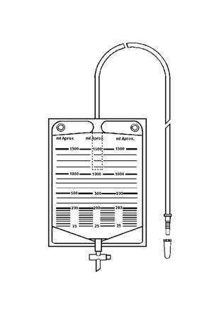 Bolsa colectora de orina 1500 ml con válvula antirreflujo y llave de descarga