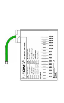 Recipiente exterior para bolsas Flexivac® de 1500 ml con línea de vacío 30 cm